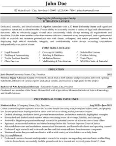 lawyer resume templates template