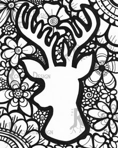 deer coloring pages kids deer head coloring pages wemakesense co