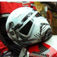 Starwars Stormtrooper Airbrushed Custom Motorcycle Helmet Dot Sparx S Xxl