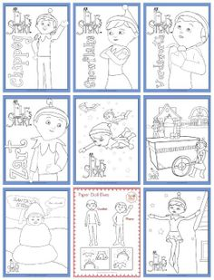 printable coloring sheets elves and coloring sheets on pinterest