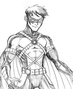 nightwing sketches and coloring pages on pinterest