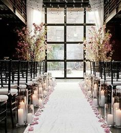 Winter Wedding Ideas Candlelit Aisle Click Pic For 25