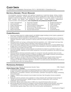resume electrical engineering and resume examples on pinterest