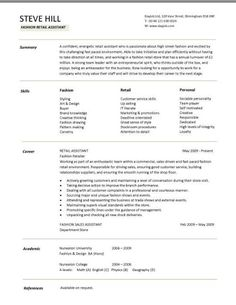 cv template retail and templates on pinterest