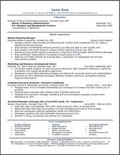 resume first page and marketing on pinterest