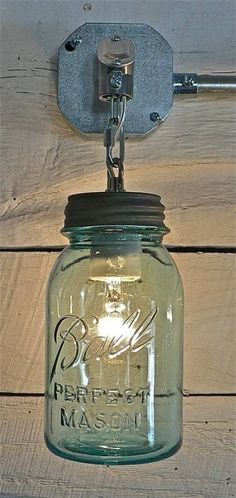 Mason Jar Sconces -