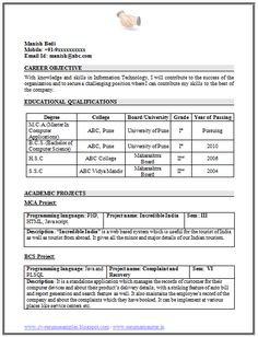 best resume format best resume and resume format on pinterest
