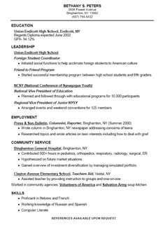 high school resumes templates simple resume examples high school