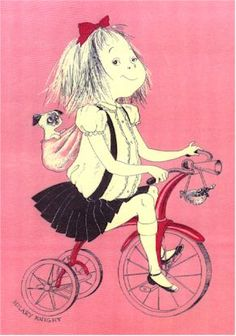 Eloise on bike