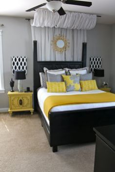 Our Master Bedroom Colors Love This Room For Finishing Detail Ideas Plus It Grey And Yellow