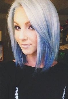 pravana blue blue hair colored ombre beauty pinterest bobs your hair and long