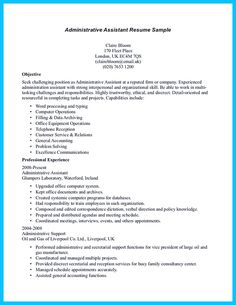 resume resume objective and facts on pinterest