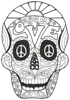 1000 images about skull day of the dead coloring on pinterest