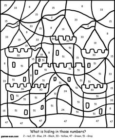 color by numbers coloring and coloring pages on pinterest