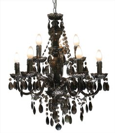 The Lighting Warehouse See More Morticia 9lt Black Code 12537 Crystal Chandeliers
