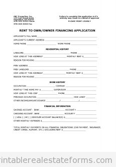 Seller Financing Contract Template. professional resume words and ...
