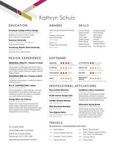 sample resume interior design resume and resume on pinterest