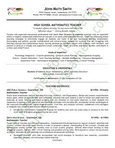 teacher resumes on pinterest teacher resumes resume and teacher