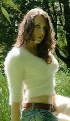 cum in fuzzy sweater