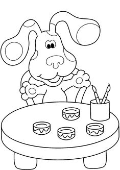 blues clues thinking chair coloring page coloring pages