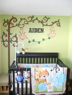 Boy Jungle Nursery Themed We Did On A Budget Small Room