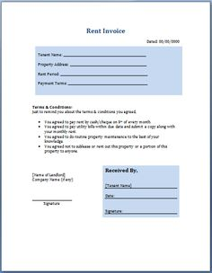 rental statement template. pin billing on pinterest. rent receipts, Invoice templates
