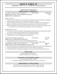 registered nurse resume resume and resume templates on pinterest