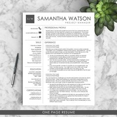 resume education and summary on pinterest