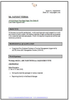 doc 4 page resume click read more for viewing and downloading the
