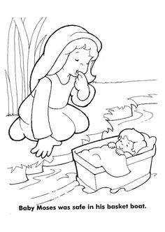 baby moses preschool crafts and coloring pages on pinterest