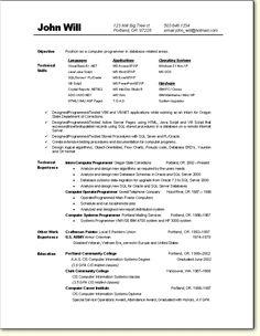 programming resume