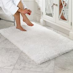 this ultra-plush bath mat from bianca will transform your space