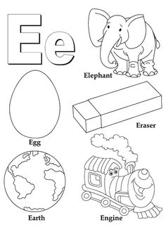 coloring pages letter e and coloring on pinterest