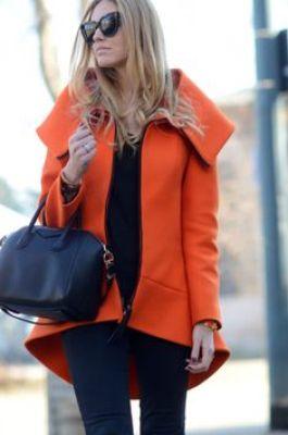 orange scuba coat.