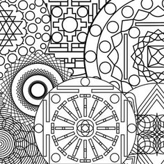 free abstract coloring page print coloring pinterest
