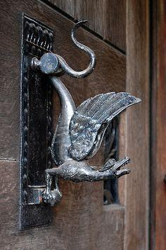 Dragon Door Knocker insipiration for Celtic knotwork dragon