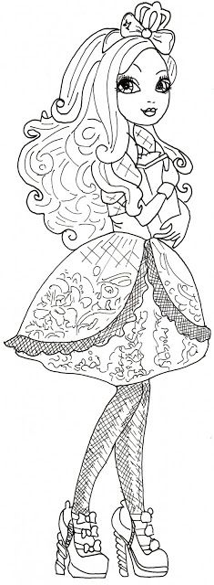 free printable ever after high coloring pages apple white ever after
