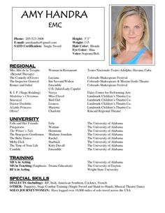 1000 images about resume examples on pinterest resume acting