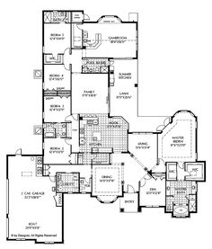 European Style House Plans 3374 Square Foot Home 1 Story 5 Bedroom And 3 Bath Garage Stalls By Monster Plan 66 250 Pinterest