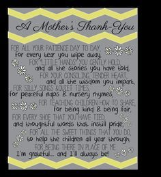 Thank You Gift For Daycare Provider My Work Pinterest