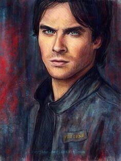 WOW Incredible Drawing Of Paul Wesley Aka Stefan Salvatore The Vampire Diaries By The Uber