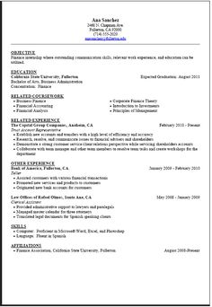 student resume student resume template and college students on