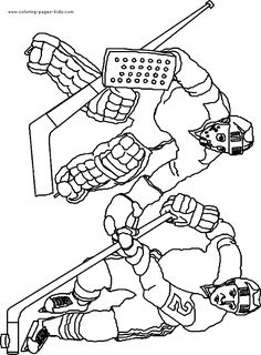 hockey coloring pages and free printable on pinterest