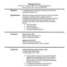 teacher resumes resume and english teachers on pinterest