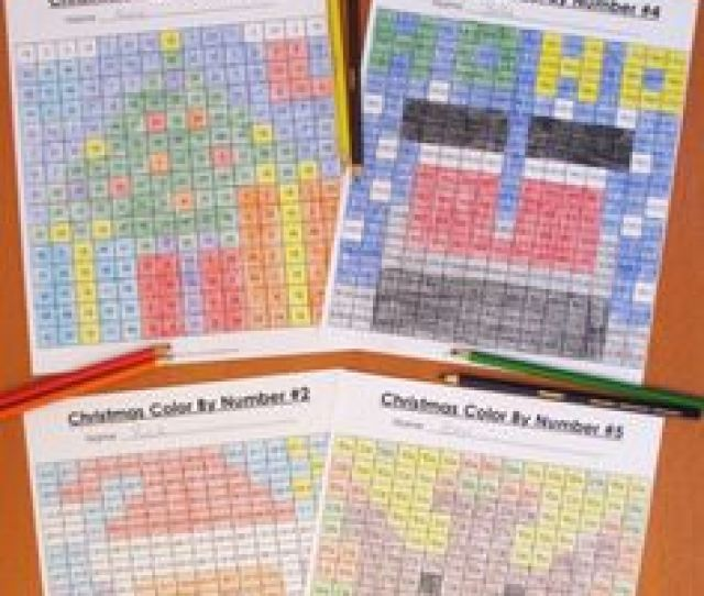 These Christmas Math Color By Number Activities Are The Perfect Way To Review Key Math Skills This Month As One Teacher Said My Students Loved The