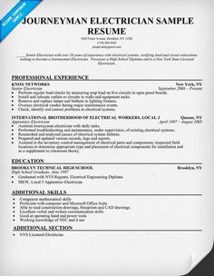 resume resume examples and construction on pinterest