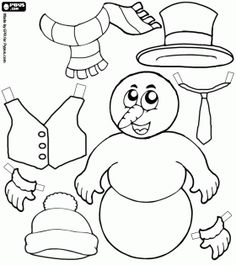 Snowman Scarf Coloring PageScarfPrintable Coloring Pages Free