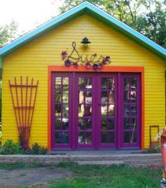 boho shed painting
