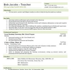 resume teacher resumes and teacher resume template on pinterest