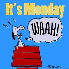 Image result for Snoopy Mondays